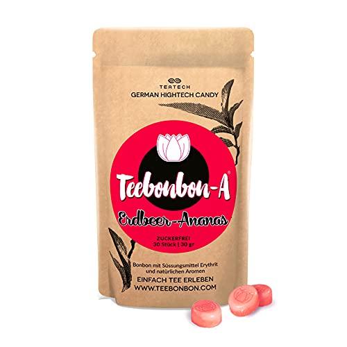 Erythrit Bonbon Teebonbon- Erdbeer Ananas | Zuckerfrei | mit natürlichem Aroma | Erythritol Candy | KETO-geeignet | 30St / 30gr