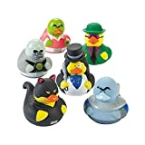 Super Hero Villain Rubber Duckies - Set of 12 - Birthday Party Toys, Favors and Supplies