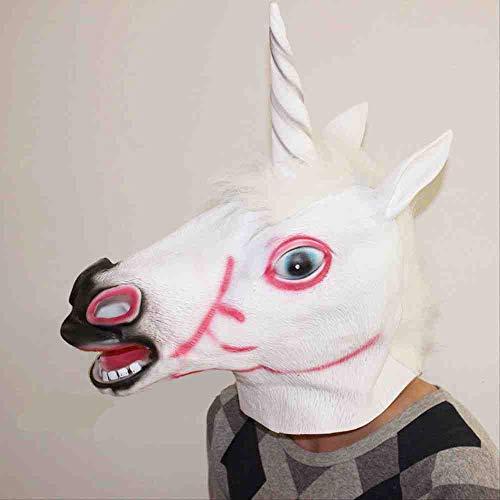 ZFBMY Halloween Ball Party Prank Masker Halloween Paardenhoofd Eenhoorn Masker Dier Hoofd Cover