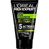 L'Oréal Men Expert Pur Carbón Gel Limpiador Multi-Purifiant Visage para Hombre - 100ml