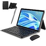 4G Tablet 10 Zoll, Android 10 Tablet mit Tastatur, 6 GB RAM + 64 GB ROM, Google GMS Zertifiziert, Quad-Core, 8000 mAh Akku, 1920 * 1200 HD IPS, 8 MP + 5MP Dual Kameras, Dual SIM, WiFi, Bluetooth