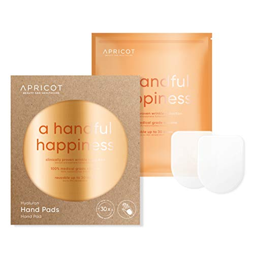 APRICOT® Hand Pads mit hochwirksamem Hyaluron! Glatte und gepflegte Hände über Nacht! 30 x wiederverwendbar - made in Germany - das ORIGINAL mit Hyaluron! German Innovation Award Winner 2019!