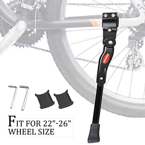 """GameXcel Bike Kickstand Adjustable Bicycle Kickstand - Bike Stand for 22""""-26"""" Road Bike/Mountain Bike - Aluminum Alloy Bike kick stand - Bicycle Accessories - Indoor Bike Storage"""