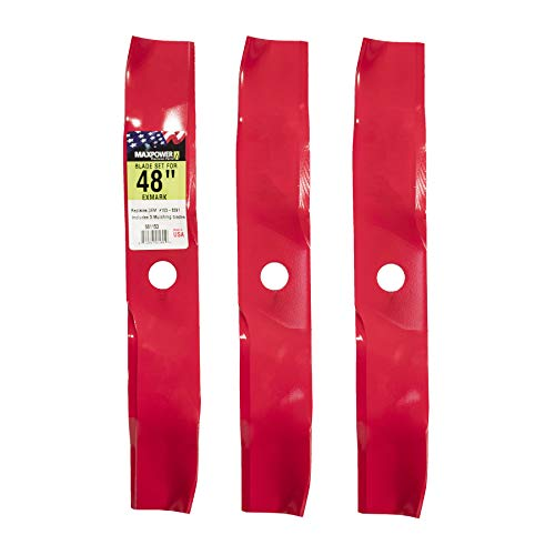 "MaxPower 561153B Mulching Blade Set for 48"" Cut Exmark Mowers, Replaces OEM No. 103-6391 and 50-1936"