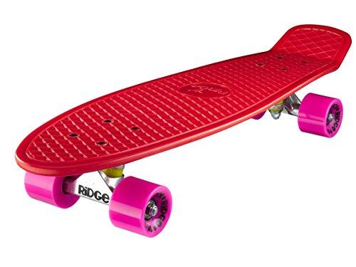 Ridge Big Brother Large Retro Cruiser Skateboard, Unisex, Rojo, 69 cm
