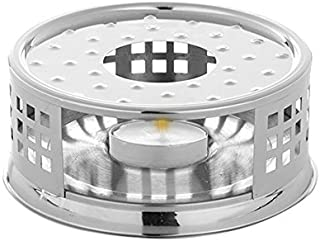 Teabloom Tea Warmer - Stainless Steel Teapot Warmer with Tea Light Candle