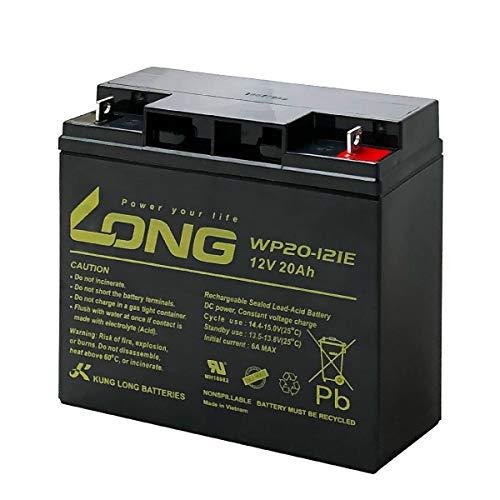 【初期補充電済み】LONG / WP20-12IE(産業用鉛蓄電池) PE12V17互換 UPS(無停電電源装置) 電動車イス 電動バイク 電動ゴルフトロリー対応 サイクルバッテリー シールド型 MF