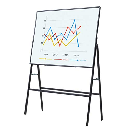 LIU- Tabique móvil Tabique/Oficina, móvil reunión de la Oficina del Tablero de Escritura de 4 mm de Vidrio templado-90 × 120 cm