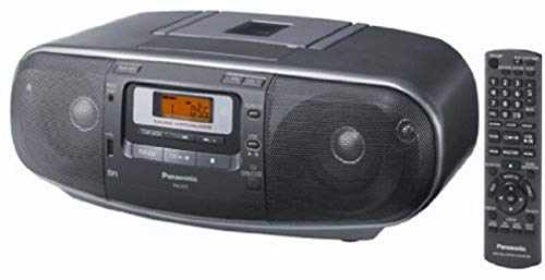 Panasonic RX-D55AEG-K CD Radio Cassette Recorder (lettore Cassette , CD, MP3 Playback), Grigio
