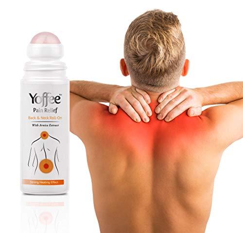GEL ALL' ARNICA PER DOLORI DI SCHIENA E CERVICALE ACUTA - Sistema roll on, grazie all' arnica e al rullo massaggiante aiuta ad attenuare dolori muscolari da stress e cattive posture - VEGAN / 90 ml.
