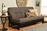 Kodiak Aspen Futon Set with Reclaim Mocha Finish, Suede Gray