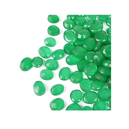 Brazilian Loose Green Emerald 100 Ct - 12 Pcs Oval Cut Green Emerald Gemstones Lot Festival Sale