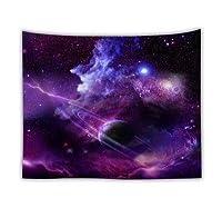 タペストリー マンダラ星空天体サイケデリックタペストリー壁掛けファブリックアートカーペット寮の装飾を吊るすロマンチック銀河ヒッピーウォール (Color : Galaxy 02, Size : 230cmx150cm)