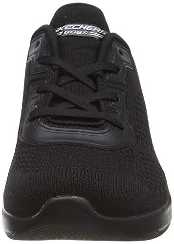 Skechers Bobs Squad 2, Zapatillas Mujer, Negro (Black Engineered Knit/Trim BBK), 38 EU