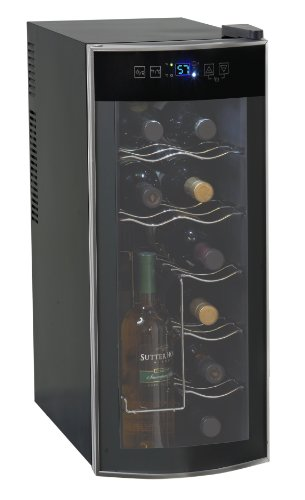Avanti 12 Bottle Thermoelectric Counter Top Wine Cooler - Model EWC1201,Black