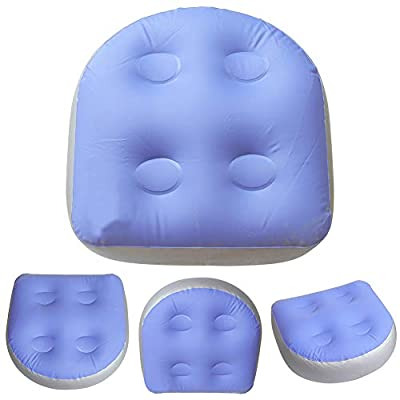 DGHAO Spa and Hot Tub Booster Seat with Suction Cups, Spa Cushion Inflatable Bathtub Pillow, Soft Hot Tub Booster Seat Massage Mat Back Pad Relaxing for Adults Kids