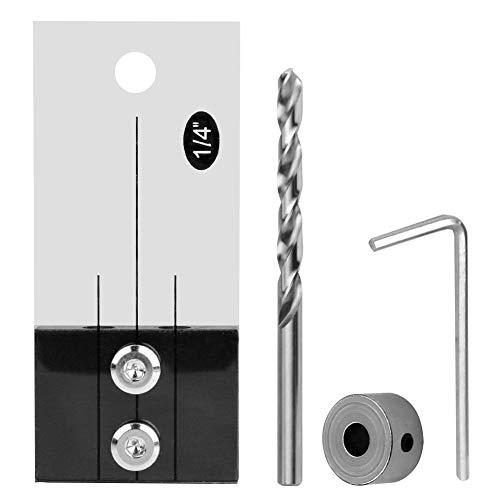 Yunnyp Localizador de taladro de agujero de carpintería, agujero de bolsillo, plantilla de paso de taladro conjunto de taladros de perforación de agujero herramienta de localización