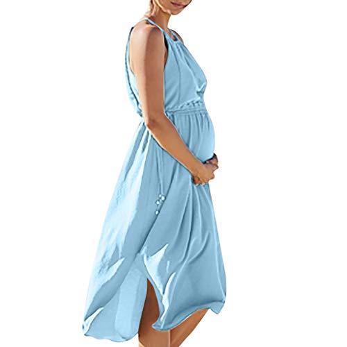 Battnot Damen Umstandskleider Schwangerschafts Kleid mit Kurzarm Freizeit Nachtkleid Lustig Baby Drucken Umstandskleid Sommer Mutterschaft Mode Umstandsmode Shirtkleid Mini Sommerkleid Pregnancy XXL