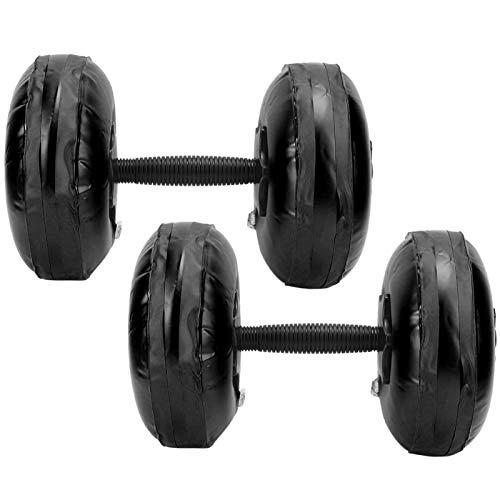 Dpofirs Set di manubri Regolabili in Peso da 8-10 kg, manubri riempiti con Acqua per l'allenamento Muscolare, Attrezzature per modellismo Domestico per Donne Uomini Adolescenti(Nero)