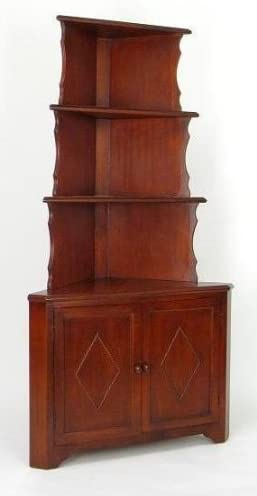 Wayborn Corner Max 86% OFF Display Unit w in Red At the price Birchwood Cabinet Brown