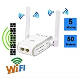 Fhai Amplificateur WiFi Advanced New Networking Products Router 300mbps Wireless-n Range Extender WiFi Repeater Signal Booster Network Router EU