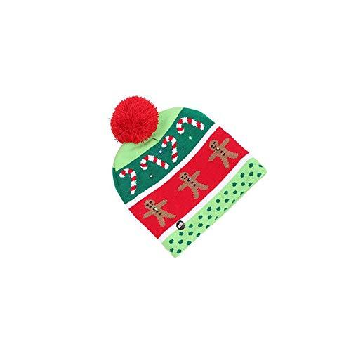 Kinderen volwassenen LED licht kerstmuts Kerstman rendier sneeuwman kerstcadeau Cap