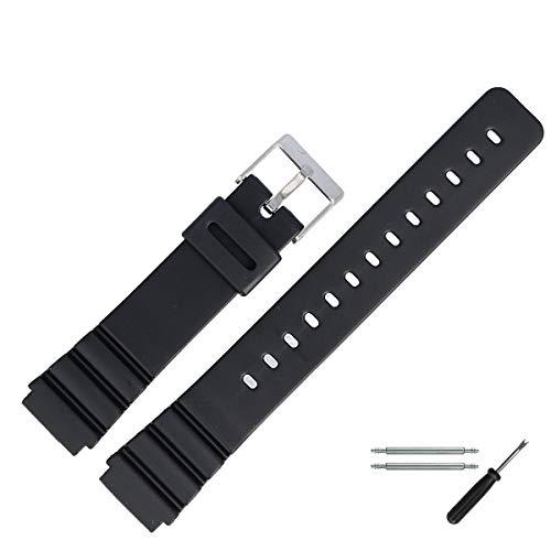 MARBURGER Uhrenarmband 20mm Kunststoff Schwarz - Werkzeug Montage Set 9602070300520
