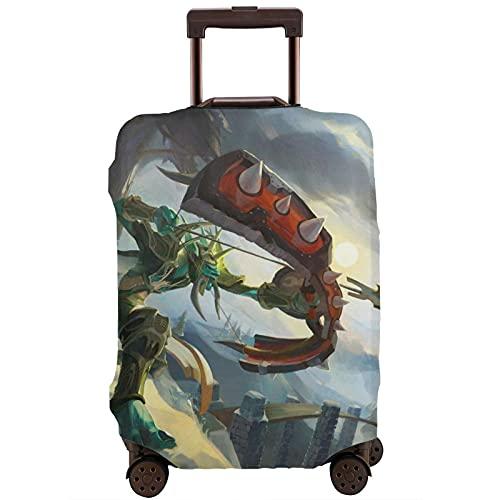 Troll Hunter - Custodia protettiva per bagagli da viaggio con cintura elastica, antigraffio, con maniche elastiche, lavabile, stampa antipolvere, bianco, XL,