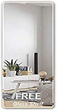 Creative Arts n Frames Full Length Long 18x36 inches Frame Less 5mm Thick Mirror Beveled Edges with Free Multi Purpose Glass Shelf (1)