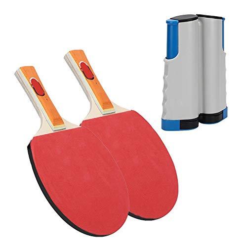 Fantastic Deal! Anti-Slip Ping Pong Balls, Portable Telescopic Net Rack Rackets Adjustable Net Pole(...