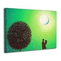 Skydoor J パネル ポスターフレーム カラフルな夜景 インテリア アートフレーム 額 モダン 壁掛けポスタ アート 壁アート 壁掛け絵画 装飾画 かべ飾り 30×20