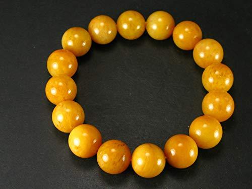 The Russian Stone Himalaya-Armband aus Himalaya-Gold, Azeztulit, 18 cm, 10 mm runde Perlen