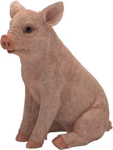 Cochon assise 19 cm