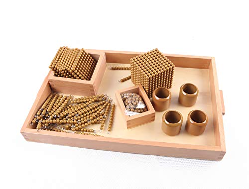 Golden Math Bead Material - Montessori Number Learning Educational Gifts