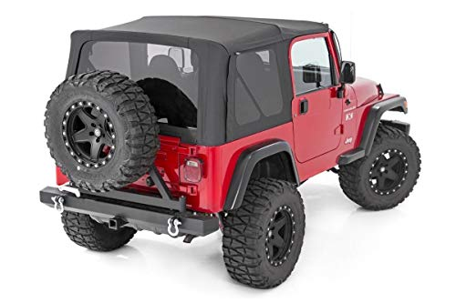 Rough Country Replacement Soft Top (fits) 1997-2006 Jeep Wrangler TJ   Full Steel Doors   RC85020.35