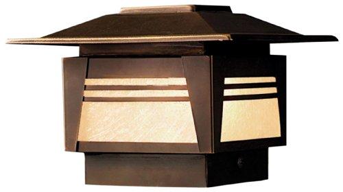 Kichler 15071OZ Zen Garden Deck Post 1-Light 12V, Olde Bronze