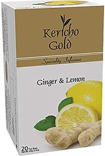 Kericho gold Kenyan Tea (Ginger & Lemon, 20 Enveloped Tea Bags, 1.1oz)