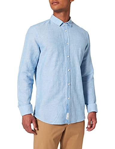 Sisley Shirt 5ev55qfr9 Camicia, Azzurro 921, S Uomo