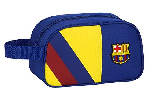 safta 812025248 Neceser, Bolsa de Aseo Adaptable a Carro FC Barcelona, Azul (FCB 19/20 Multicolor)
