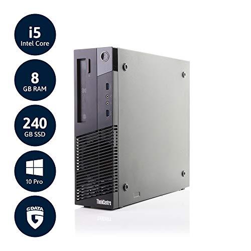 Lenovo ThinkCentre M93p SFF | 3 Jahre Garantie | Intel Core i5 bis 3.6 GHz | 8GB RAM | 240GB SSD | DVD-RW | Win10 Pro | G Data Internetsecurity | Acronis True Image | (Zertifiziert & Generalüberholt)