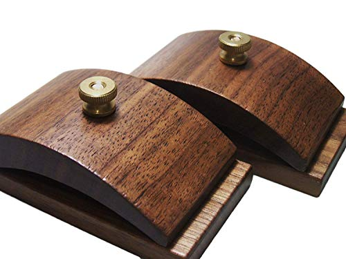 Mejor 1 Pair Walnut Wood Quilt Hang-Ups Clamps Clips - Large crítica 2020