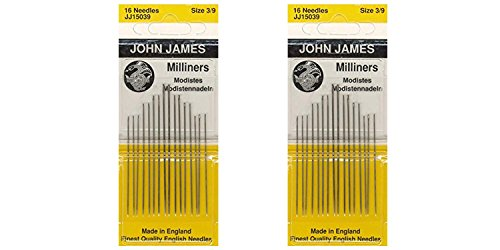 Milliners Hand Needles-Size 3/9 16/Pkg (2 Pack)