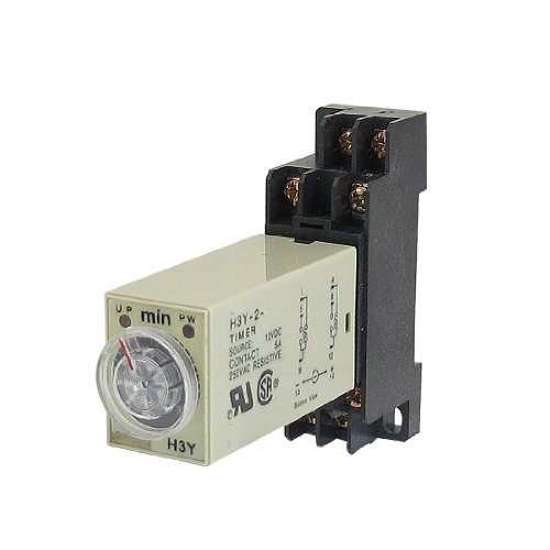 uxcell DC 12V H3Y-2 0-30Min DPDT 8 Pins Power on Time Delay Relay w Base