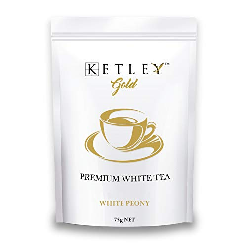 Ketley Gold White Tea Leaves - White Peony, 75g, Pack of 2