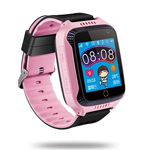 TrailO ™ iSecureRelyCam - Kids GPS Tracker SOS Smart Touch Screen Watch   Camera   Call Function, Remote Monitoring   2G SIM Compatible   Kids Safety (Pink)