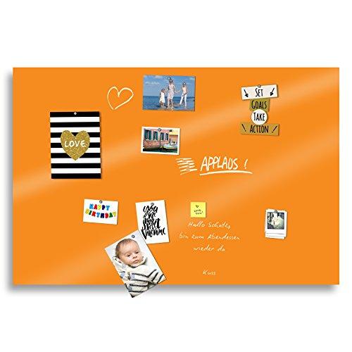 BUNTE Tafeln Magnet Klebefolien selbstklebend PVC-freie Magnet Schreibfolie   Testnote 1,4   beschreibbar zuschneidbar   Rückseite selbstklebend   (orange, 100x60cm)