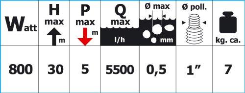 Papillon 8060122 – Bomba Agua Papillon Sumergible Multietapa Bream