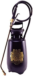 B & G Equipment 12013700 Chemical Resistant Sprayer, 2 gal Poly Molded Thick Wall polyethylene Tank Design, 18