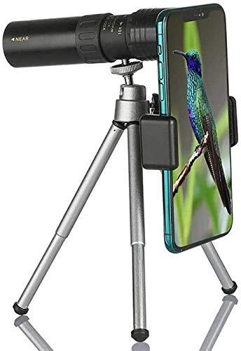 JJDSN Potente telescopio Monocular de Largo Alcance de 10-300X40mm para Vidrio de teléfono Inteligente con trípode, óptica HD, Accesorios para Lentes de Alcance