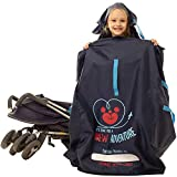 MyEasy Stroller Travel Bag for Airplane - Gate Check Bag for Stroller - Durable Stroller Cover for Airplane - Stroller Bag for Air Travel fits Single and Double Baby Strollers